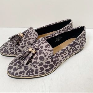 ASOS Mindful Flats in Gray Leopard Print